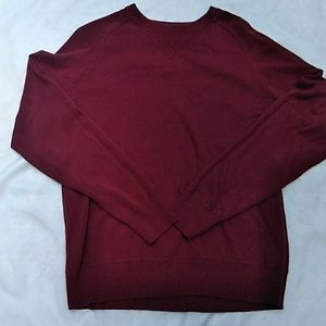 Maroon Colored Men's Pullover Sweater